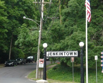 View entering Jenkintown from Wyncote, Cheltenham Township