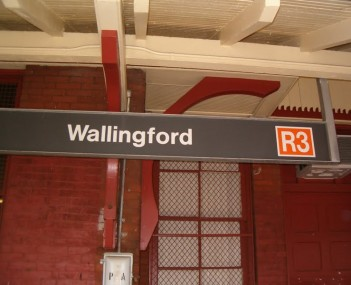 Wallingford SEPTA Station sign