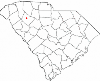 Location of Laurens in South Carolina
