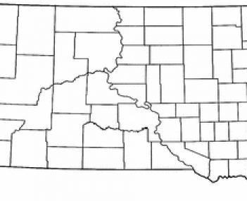Location of Dell Rapids, South Dakota
