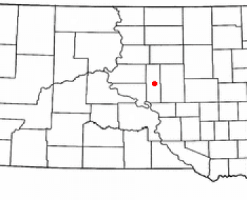 Location of Highmore, South Dakota