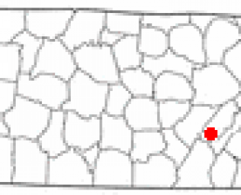 Location of Dayton, Tennessee