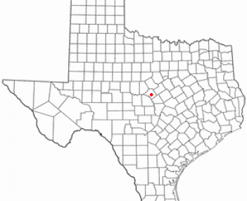 Location of Goldthwaite, Texas