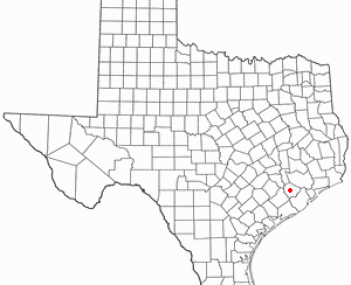 Location of Rosenberg, Texas