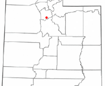 Location of Draper, Utah