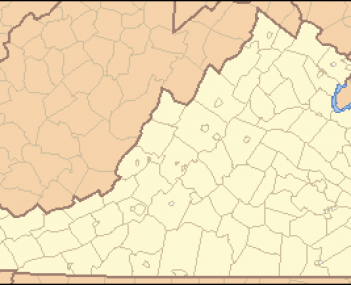 Virginia Locator Map