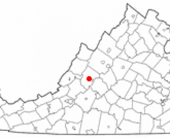 Location of Lexington, Virginia