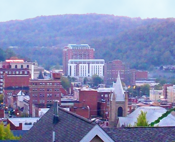 Skyline view of Morgantown