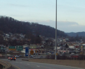 Central Weirton from U.S. Highway 22 exit.