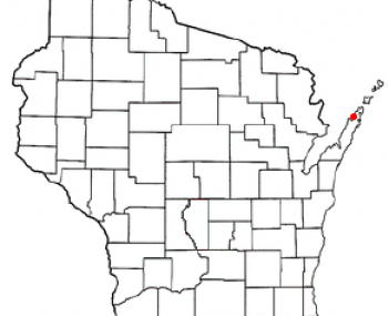 Location of Sister Bay, Wisconsin