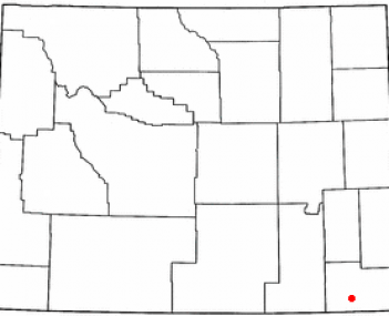 Location in Wyoming