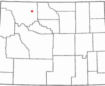 Location of Cody, Wyoming