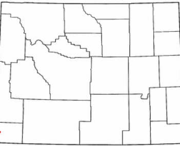Location of Evanston, Wyoming