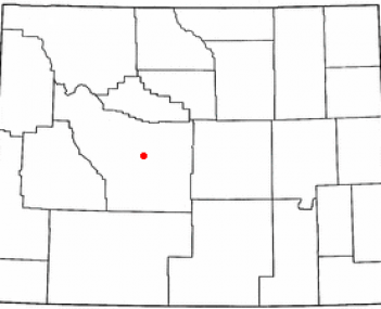 Location of Riverton, Wyoming