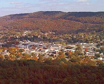 Aerial view of Fort Payne, Alabama