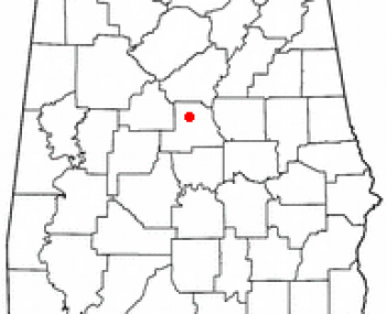 Location of Jemison, Alabama