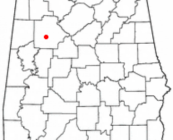 Location of Northport, Alabama