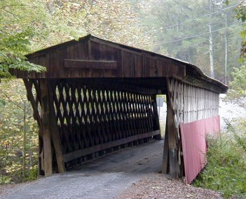 Oneonta is home to the Easley Covered Bridge, a county-owned,  town lattice truss bridge built in 1927. Its WGCB number is 01-05-12.