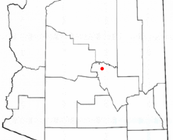 Location of Payson, Arizona