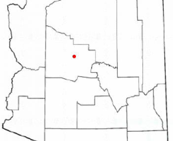 Location of Prescott Valley, Arizona