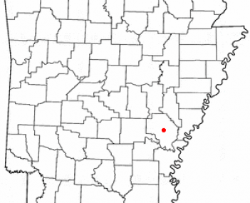 Location of De Witt, Arkansas