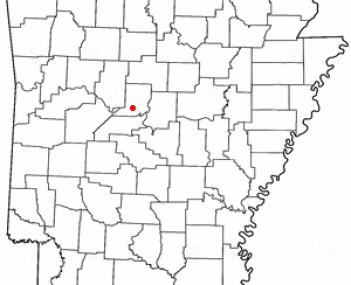 Location of Morrilton, Arkansas