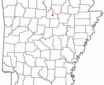 Location of Mountain View, Arkansas
