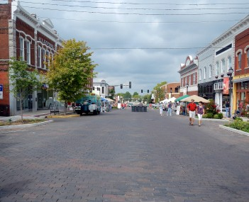 Downtown Rogers during the 2012 Frisco Festival