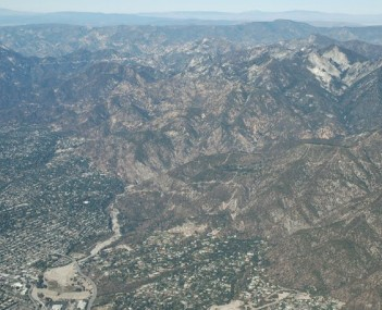 Eaton canyon from the air