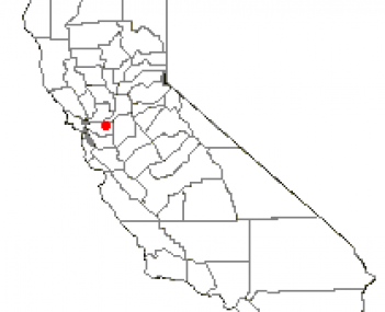 Location of Antioch within California