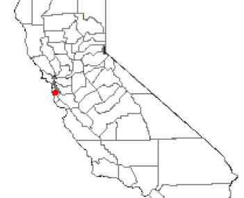 Location of Belmont, California