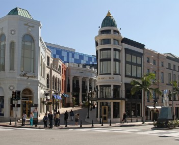 Beverly Hills at the corner of Rodeo Drive & Via Rodeo