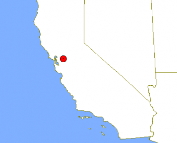 Location of Brentwood in California