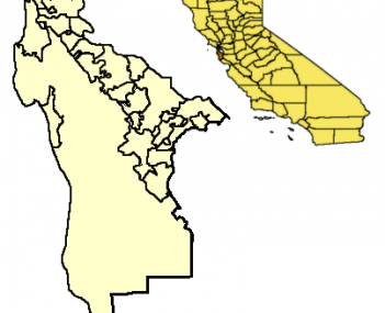 Location of Colma within San Mateo County
