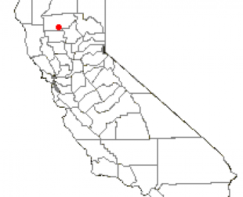 Location of Corning, California