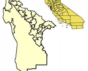 Location of Daly City within San Mateo County