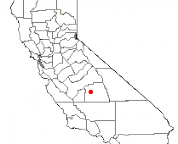 Location of Exeter, California