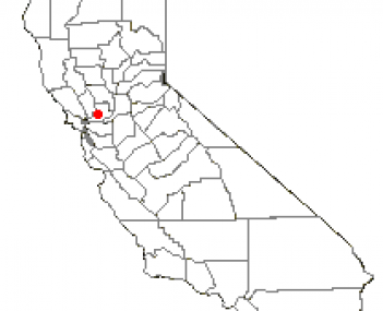 Location of Fairfield within California