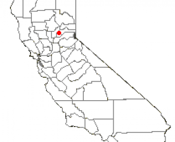 Location of Rough and Ready, California