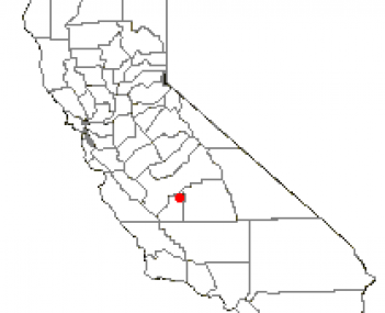 Location of Hanford, California