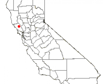Location of Healdsburg, California