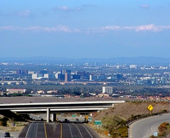 Downtown Irvine overhead