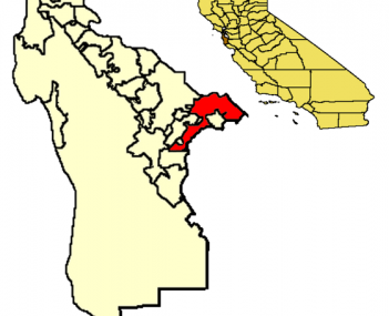 Location of Menlo Park within San Mateo County