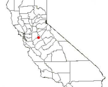Location of Oakdale, California