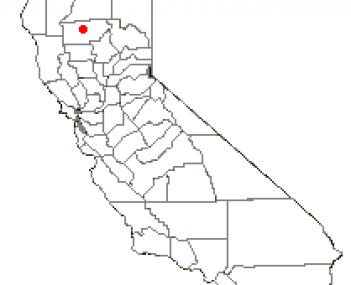 Location of Red Bluff, California