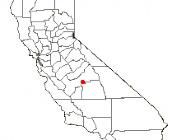 Location of Reedley, California
