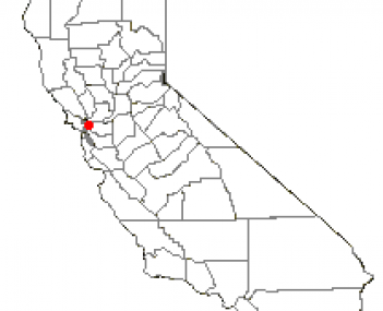 Location of San Pablo, California