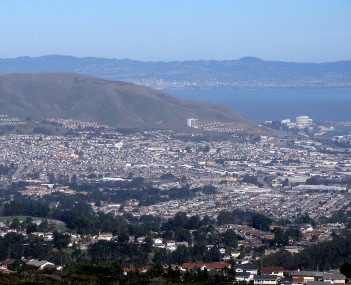 South San Francisco as viewed from a nearby ridge