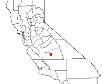 Location of Tulare, California