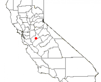 Location of Turlock, in Stanislaus County, California, USA